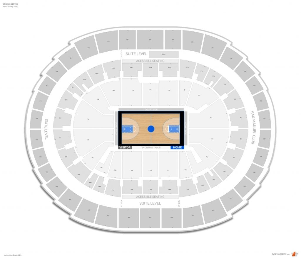 Clippers Seating Chart Staples Center Seating Charts Pepsi Center