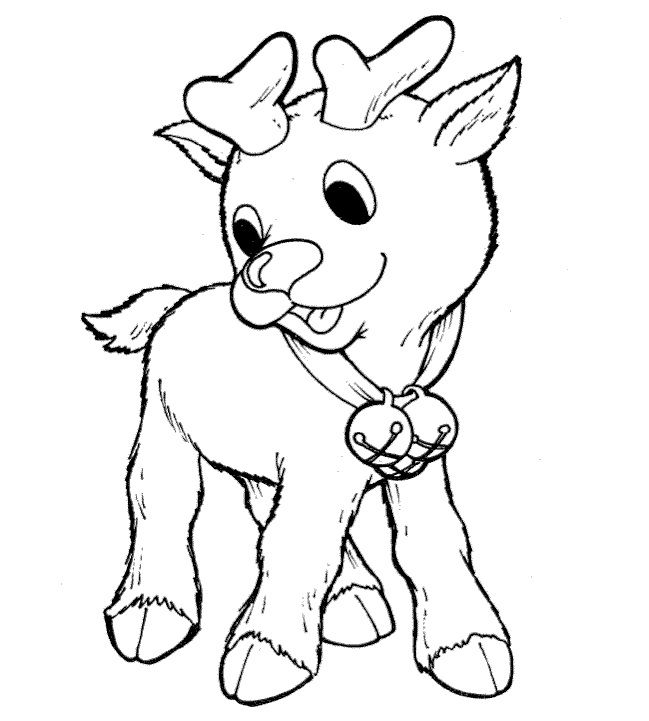 Free Printable Reindeer Coloring Pages For Kids Christmas Coloring Pages Printable Christmas Coloring Pages Baby Reindeer
