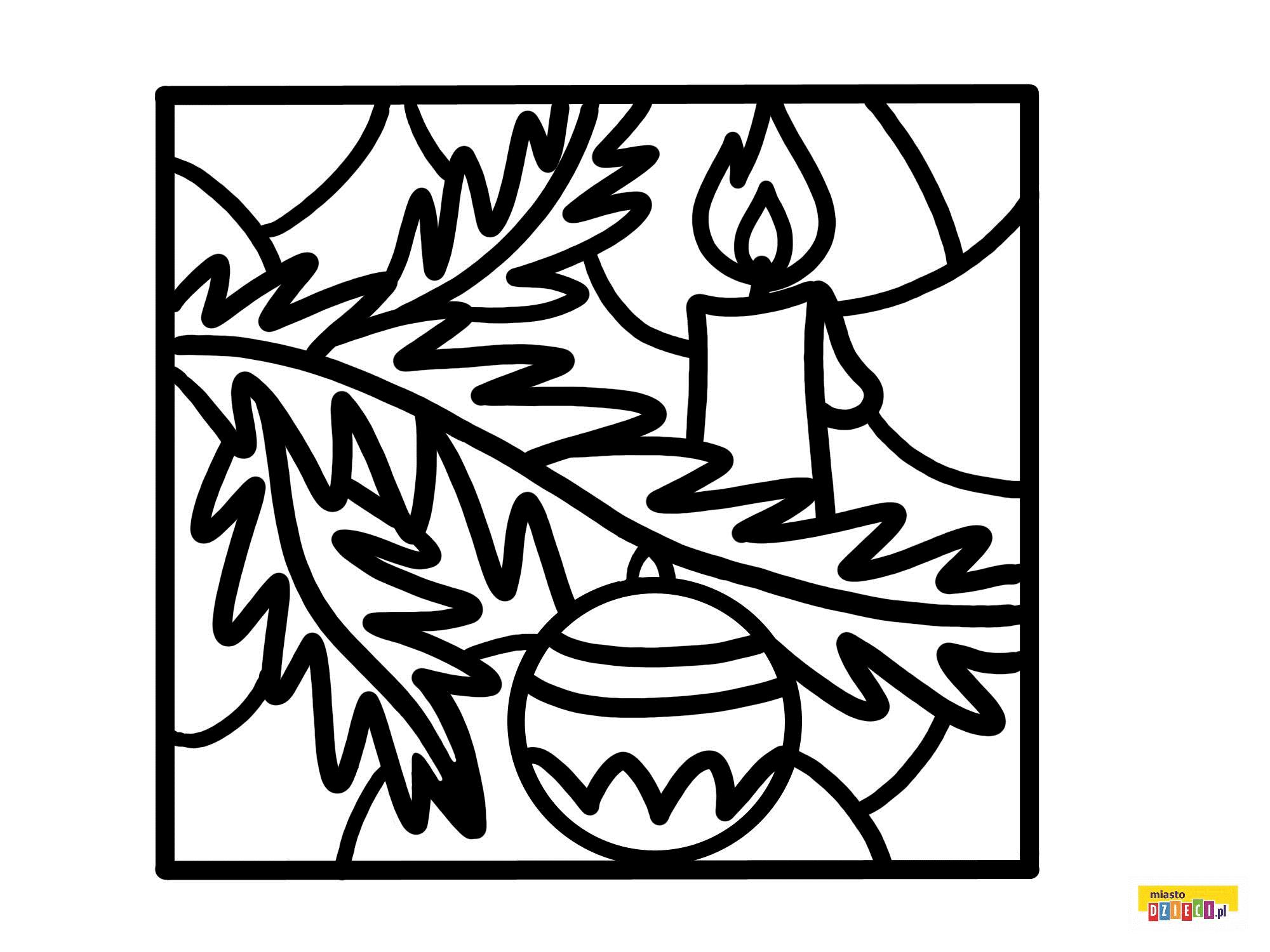 Witraze Swiateczne I Zimowe Choinkowa Galazka Kolorowanki Malowanki Dla Dzieci Do Drukowania Art Tribal Tattoos Tribal