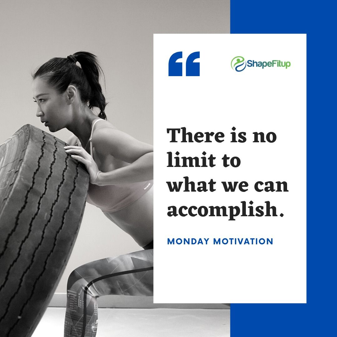 There is no limit to what we can accomplish.   #mondaymotivation #fitness #fitnesslifestyle #fit #fi...