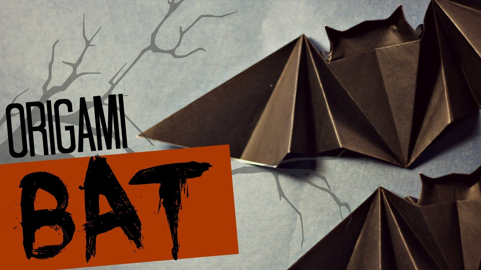Very easy origami Bat (Tadashi Mori) | ORIGAMI TUTORIALS 3 ... - photo#20