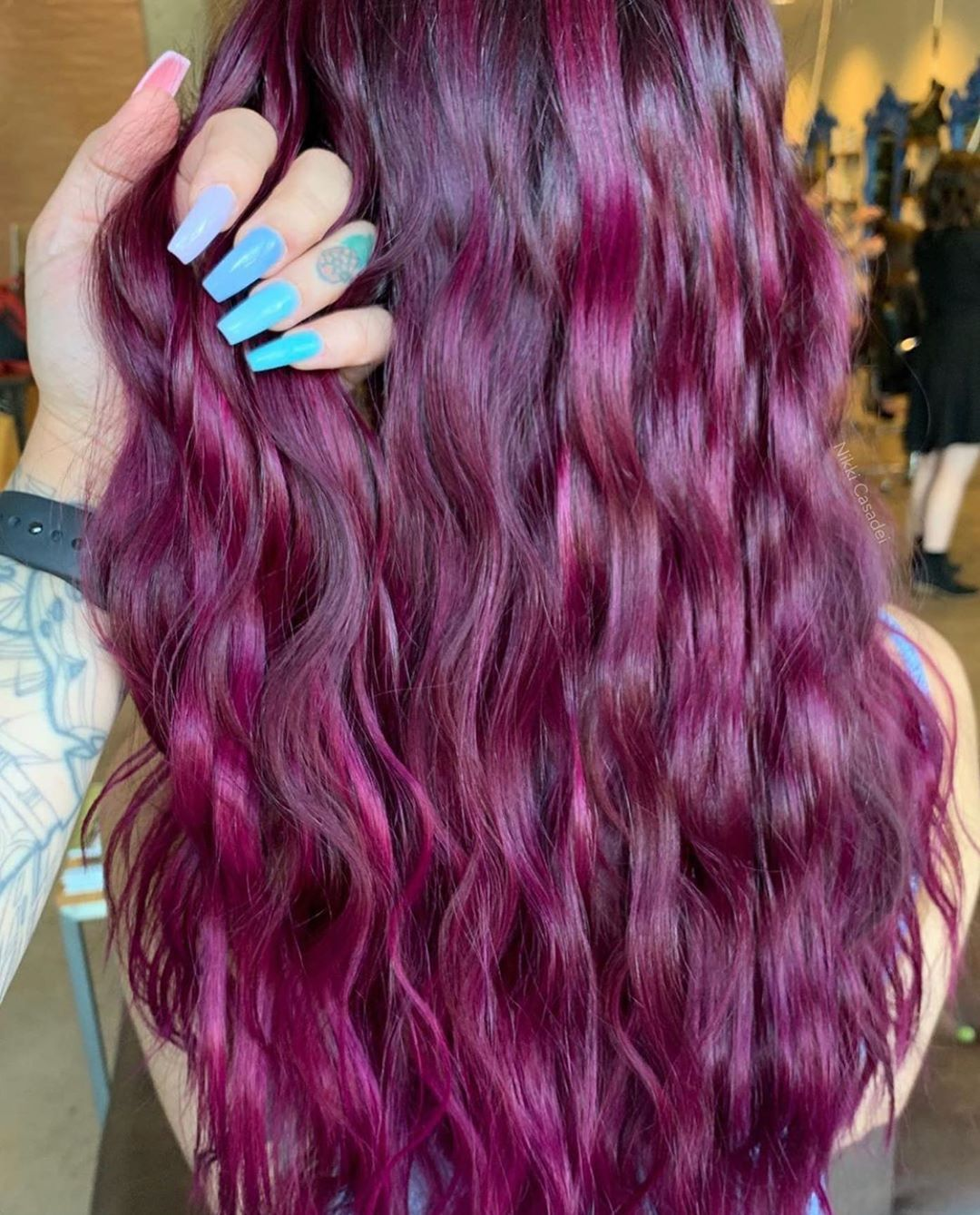 Equal Parts Magenta And Orchid On Level 6 Hair Look Radiant And