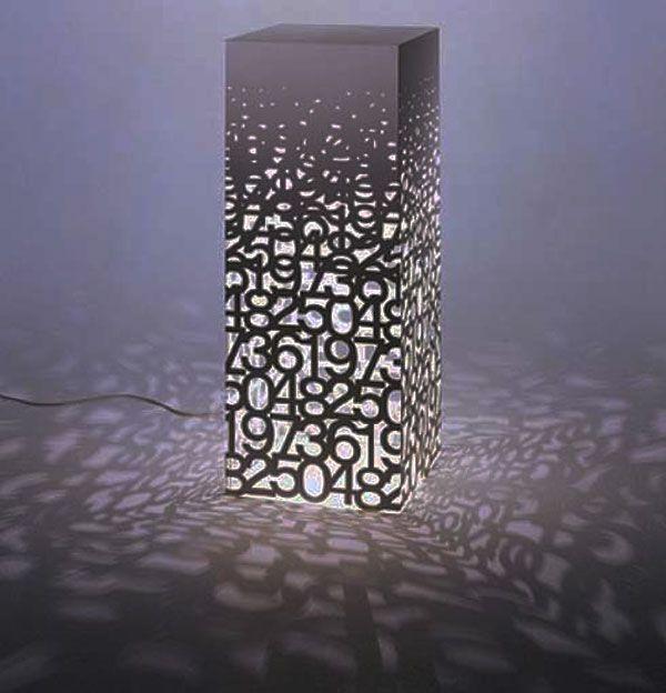 number lamp