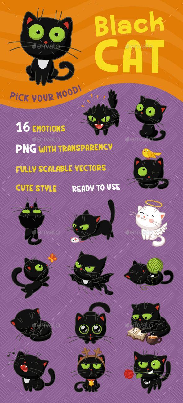 Black Cat Calico cat facts, Black cat, Animal design