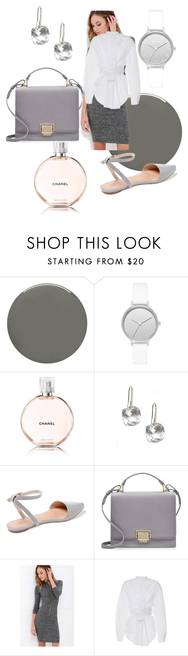 """""""April"""" by nicky-jane-neary on Polyvore featuring Deborah Lippmann, Skagen, Chanel, Smythson, LULUS and E L L E R Y"""