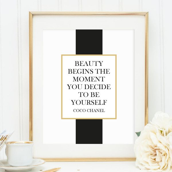 poster print illustration coco chanel quote from issue no 206 by my home. Black Bedroom Furniture Sets. Home Design Ideas