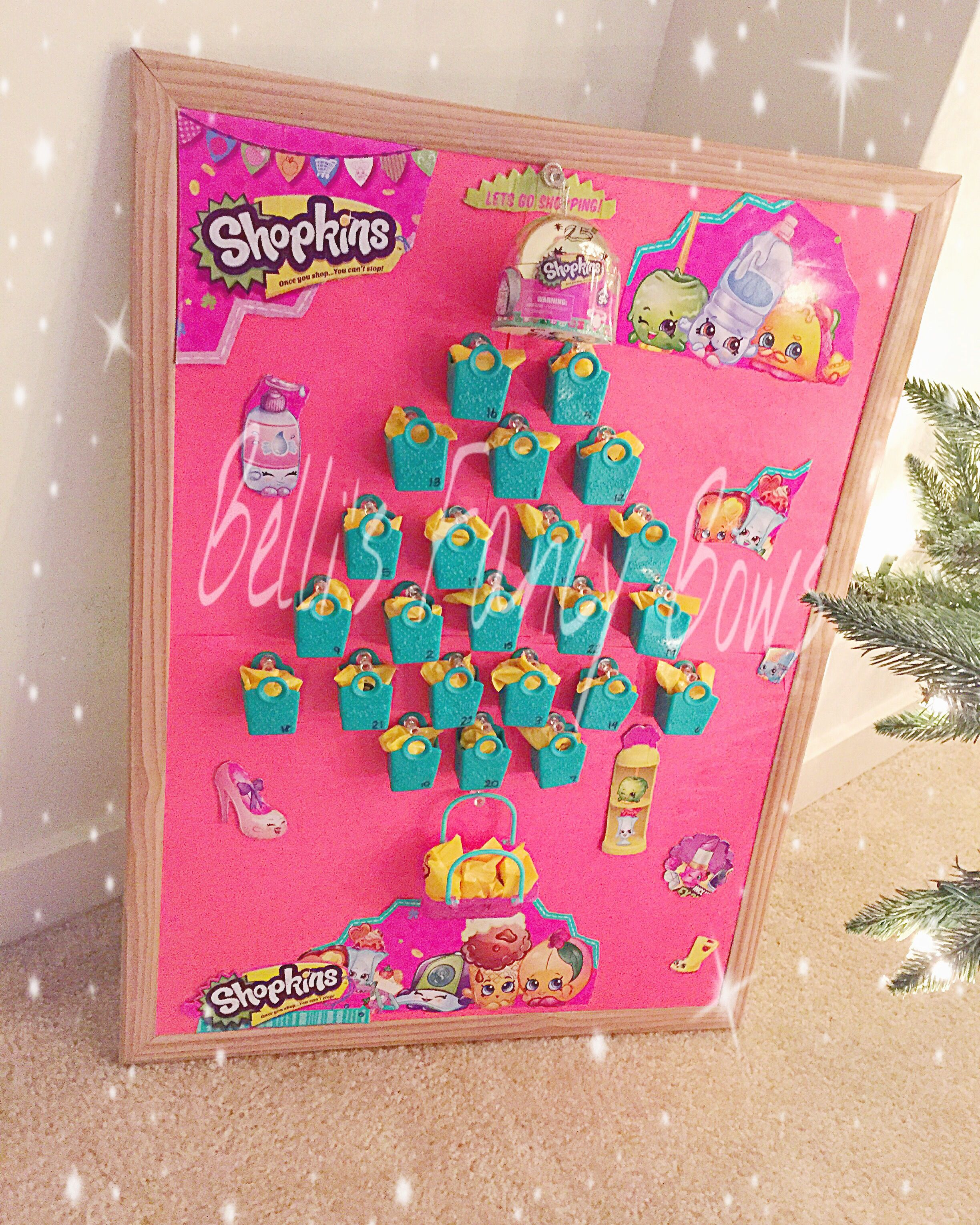 Advent Calendar Ideas For Girls : Made leannabelle a shopkins theme advent calendar