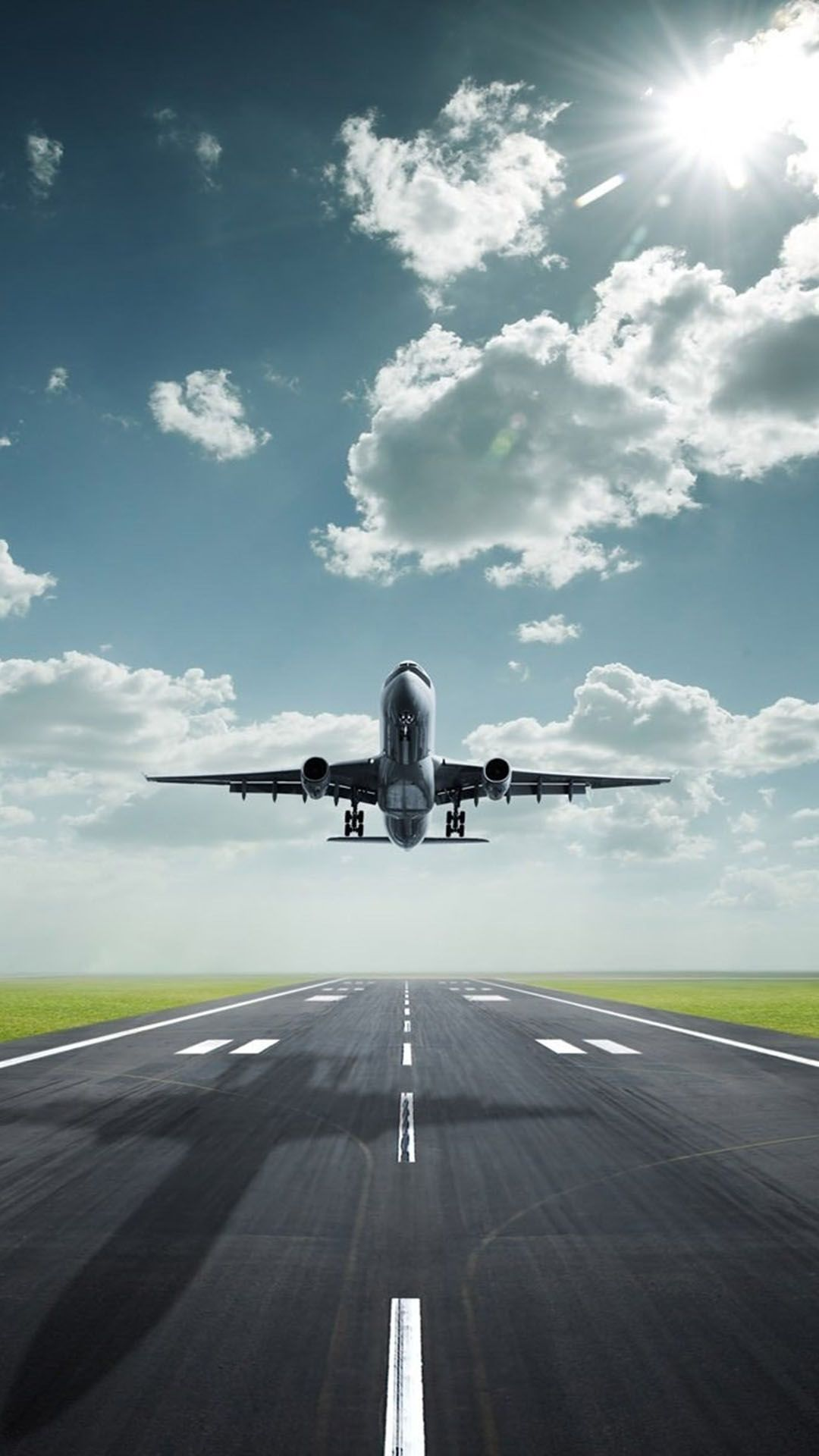 airplane takeoff airport runway sky 1080x1920 (With images