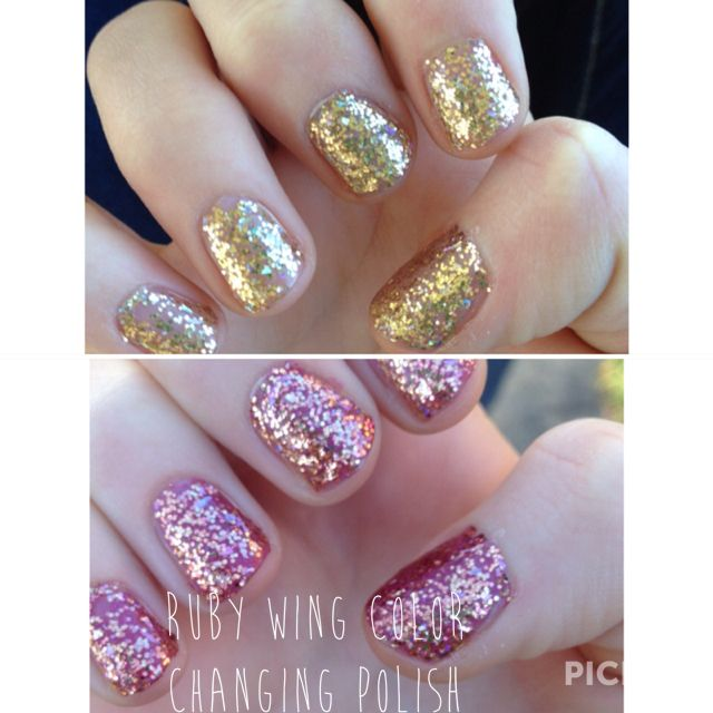 """Ruby Nail Polish: Ruby Wing Color Changing Nail Polish In """"Ride 'em Cowgirl"""
