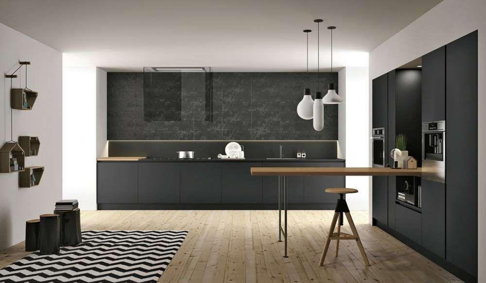 Cucine nere - Cucine nere e legno | Cucine nere, Cucine e Design