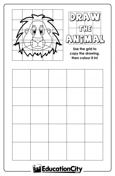 Grid Enlargement Practice Sheet | Art sub lessons, Art ...