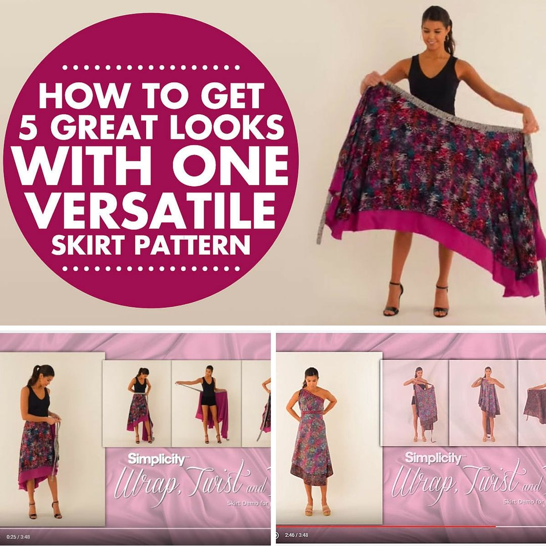This Simplicity pattern is so versatile! You can get 5 great looks ...