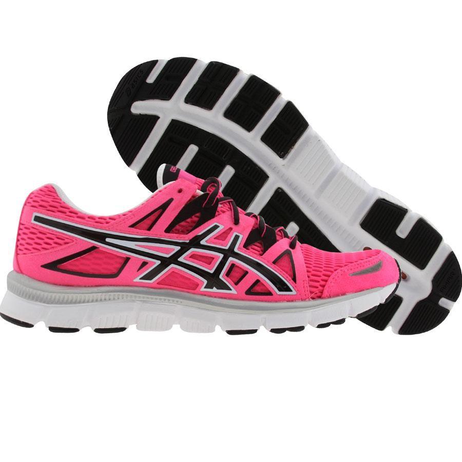 Asics Gel Blur   Womens Shoes Black Blue Pink