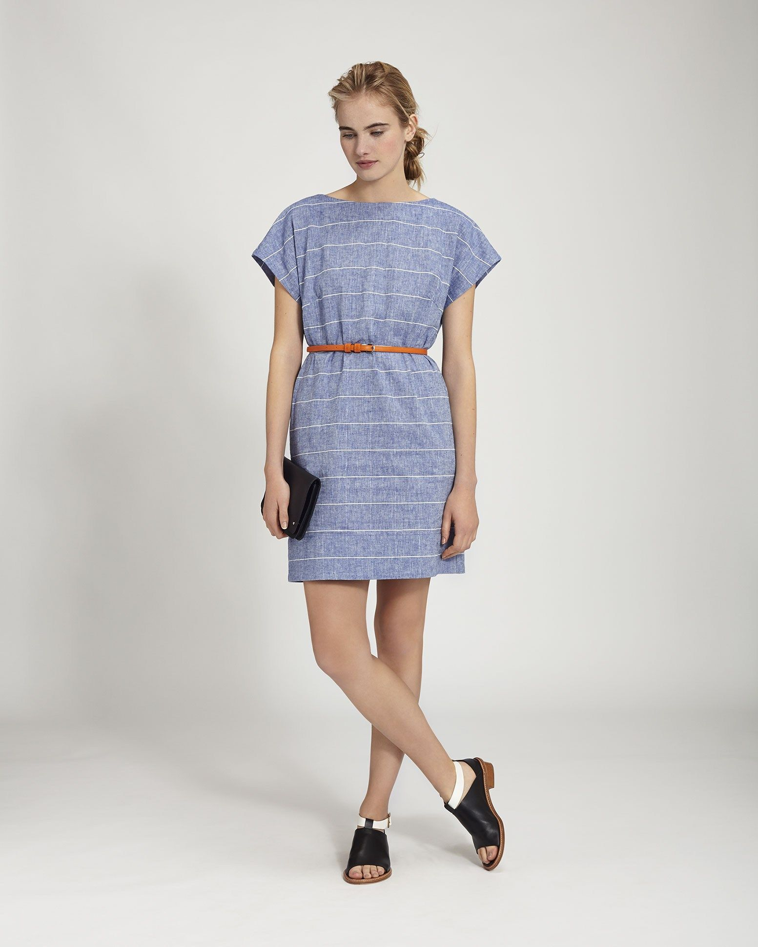 a25da5c7fc7 Women s Chambray Linen Cotton Riva Dress