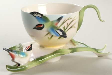 Franz Collection Bamboo U0026 Songbird   Cup And Saucer