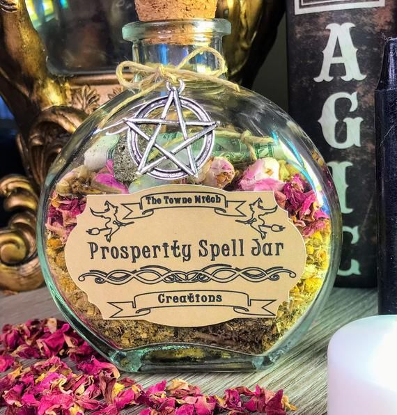 Witch Spell Jar #moneyspell