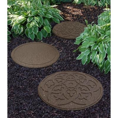 Ecotrend 18 Inch Round Scroll Earth Stepping Stone Mt5000988 Home Depot Canada