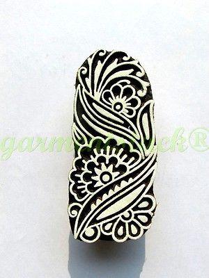 Indian-Hand-Carved-Textile-Stamp-Woodblock-Floral-Wooden.jpg (300×400)