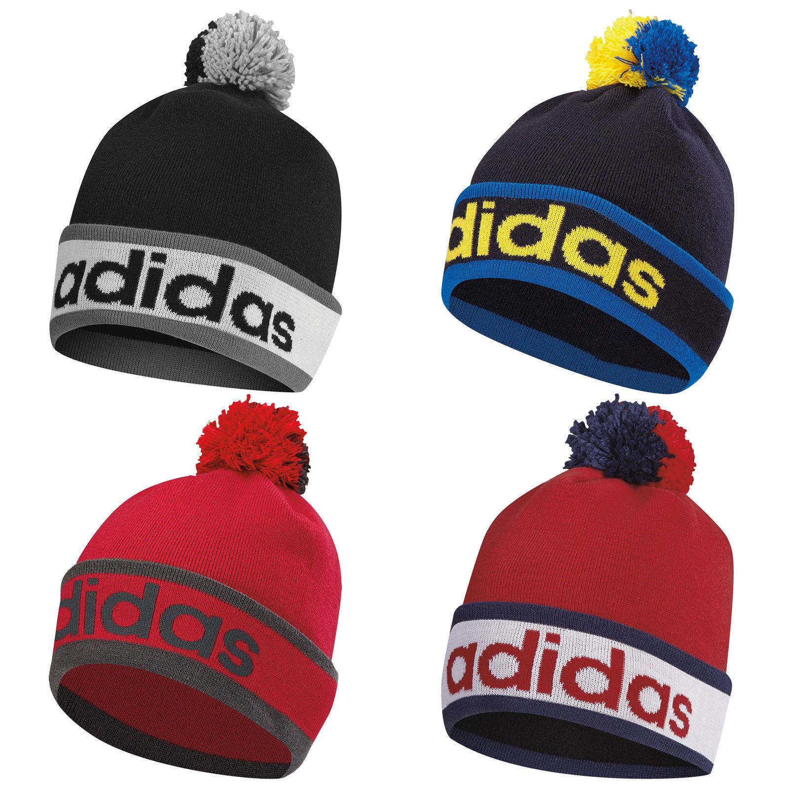 02a18053 Adidas mens pom pom beanie hat - new knit #bobble cap #winter golf #