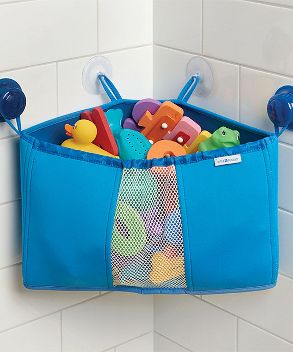 Another great find on #zulily! Blue Bathtub Corner Storage Basket by ...