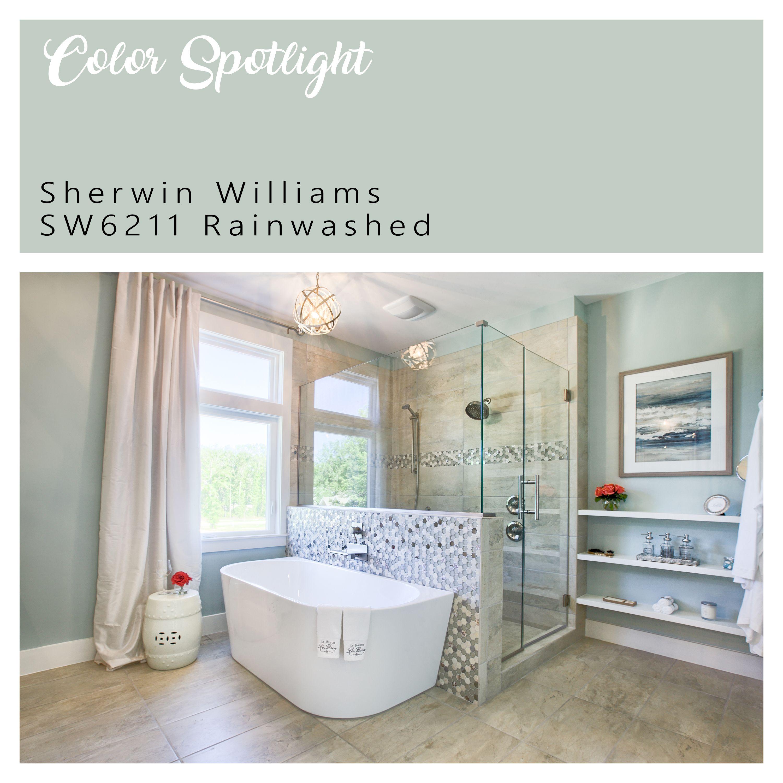 Spa Bath Paint Inspiration In 2020 Spa Bathroom Decor Bathroom Wall Colors Bathroom Paint Colors Sherwin Williams