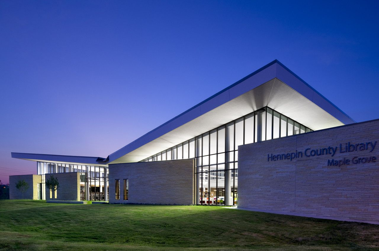 Hennepin County Library Maple Grove Msr Design Gymnasium Architecture Library Architecture Cultural Architecture