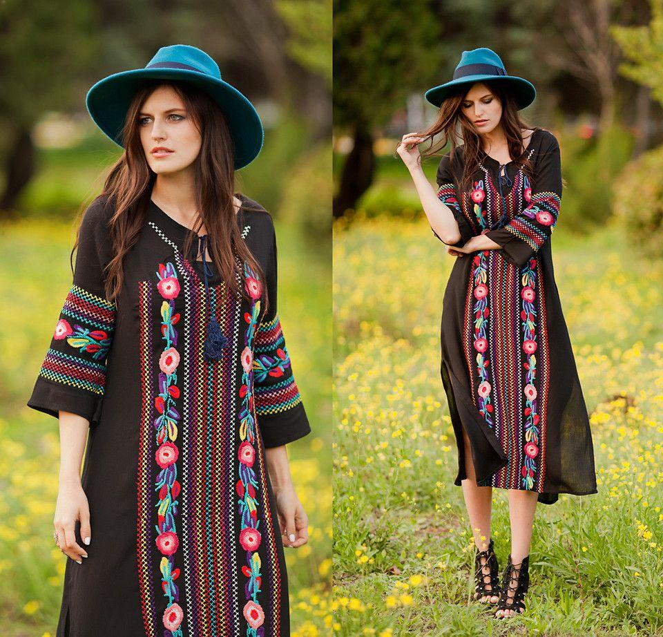 Viktoriya Sener - Zaful Dress, Catarzi Hat, Asos Booties - VYSHYVANKA | LOOKBOOK
