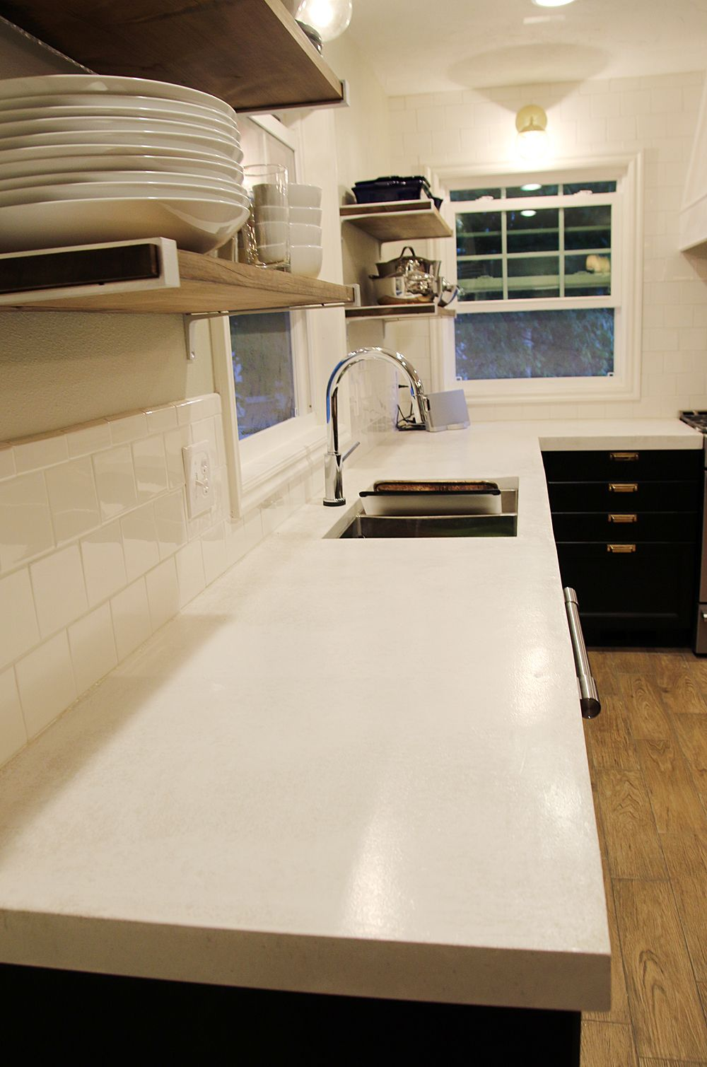 Sealing Our White Concrete Countertops