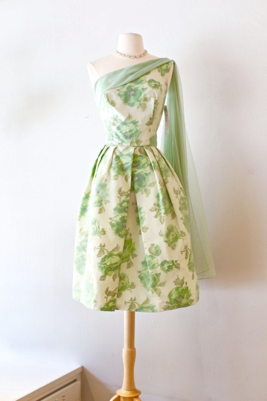 Vintage Dress Etsy 50s Style Tea Length Dress Vintage Dresses Dresses 50s Fashion [ 1500 x 1000 Pixel ]