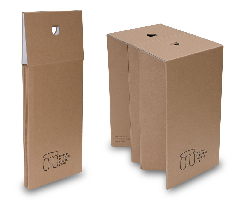 Portable Folding Cardboard Chair, Stool, Corrugated Cardboard, Paper ...