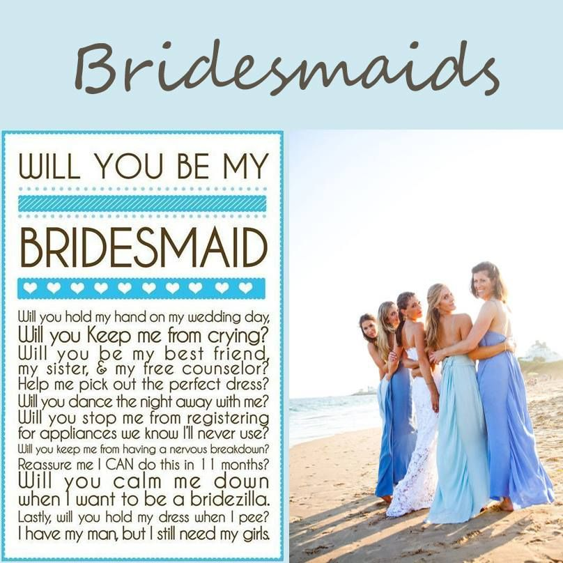 Very thoughtful - asking bridesmaids to be in wedding | Bridesmaids ...