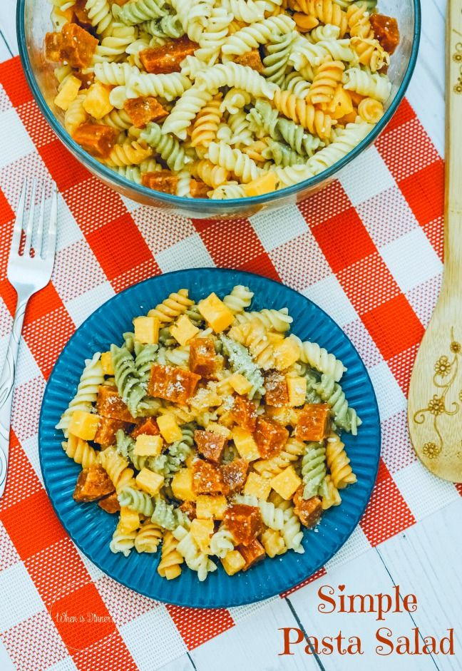 Simple Pasta Salad This colorful and very easy to prepare 5 ingredient Simple Pasta Salad is a crowd pleaser, plus Tips to Make the Perfect Pasta Salad included!