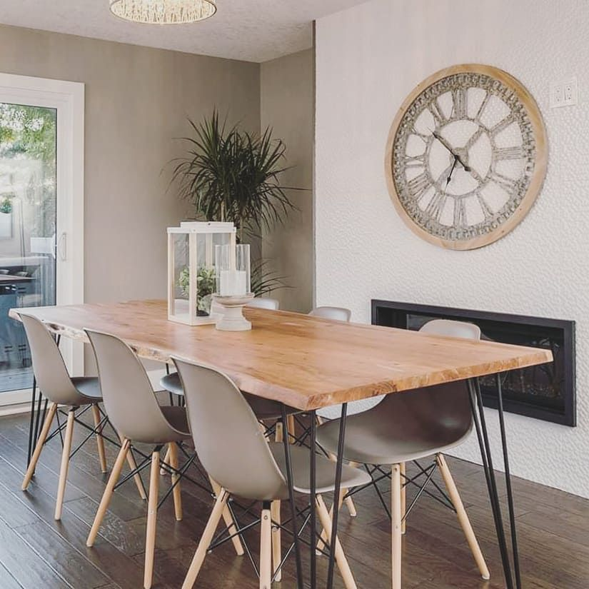Live Edge Table And Chairs From Structube Really Impressed With