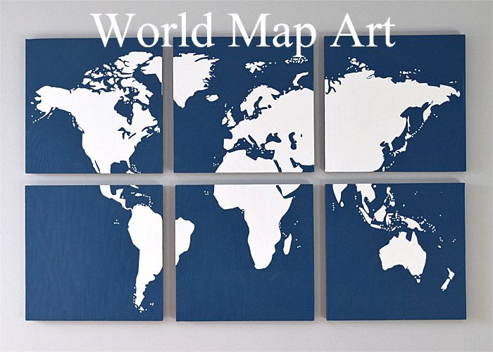 Diy map art for the wall cuadro create a stunning graphic wall art piece with wood and a world map silhouette tutorial gumiabroncs Gallery