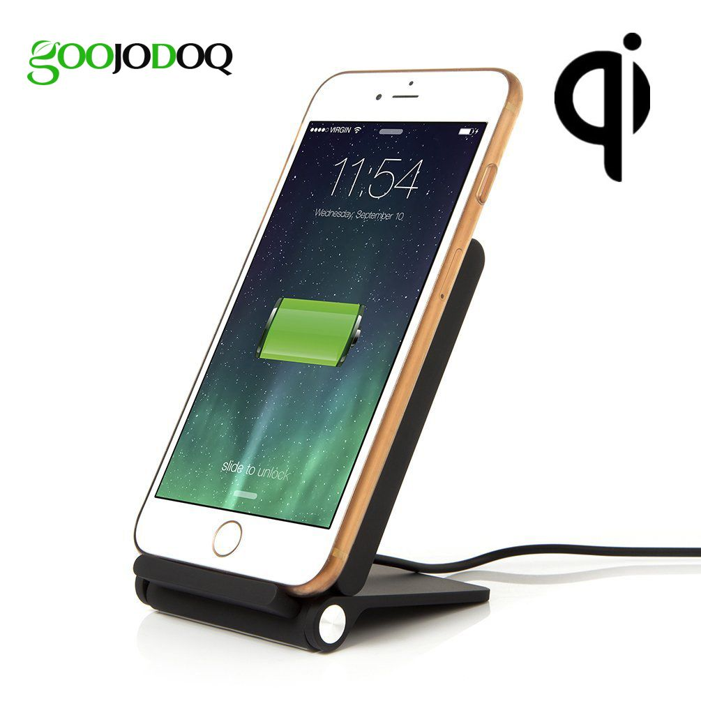 3 Coils Qi Wireless Charger Pad Stand for Samsung Galaxy S7