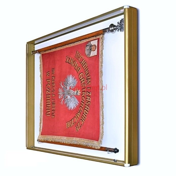 Display case for the GSZ banner 160 x 140 x 10 cm. 4 types of frame