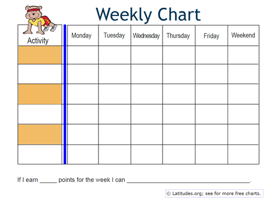 best weekly charts images on pinterest chore food diary free behavior also erkalnathandedecker rh