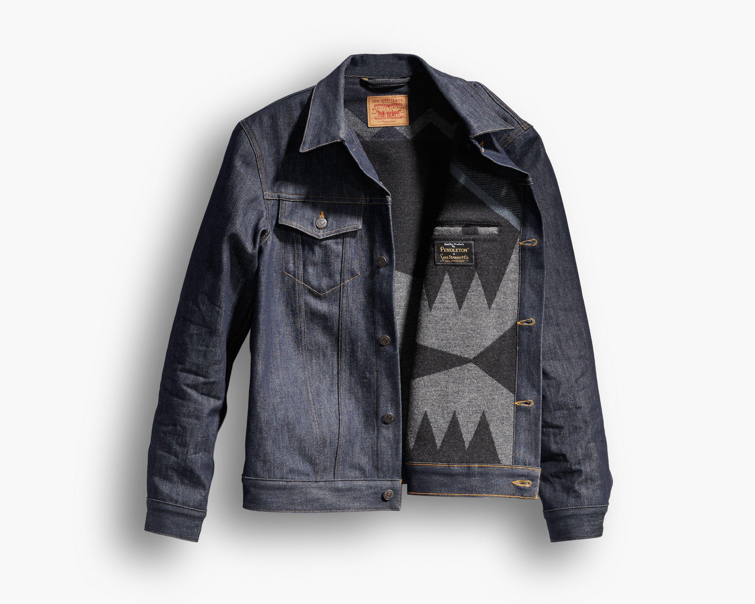 Levis X Pendleton Trucker Jacket Jean Calvin Klein Levis [ 2000 x 2500 Pixel ]
