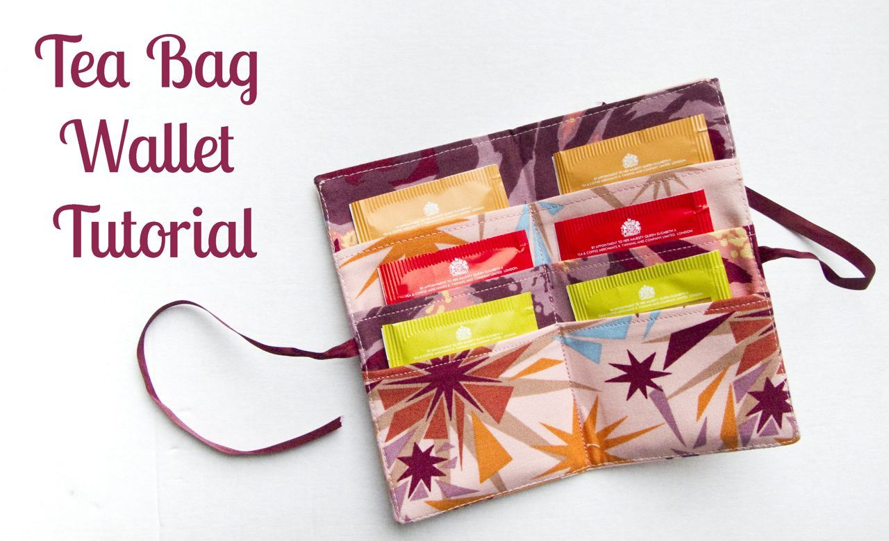 Displacement Activity: Tea bag wallet tutorial | make THIS ...