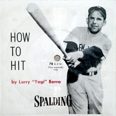 In 1956 Spalding Gave Away 2 Free Baseball 78 Rpm Flexi Records With A Cardboard Backing To Promote Their Line Of Baseball Glove Baseball Records Yogi Spalding