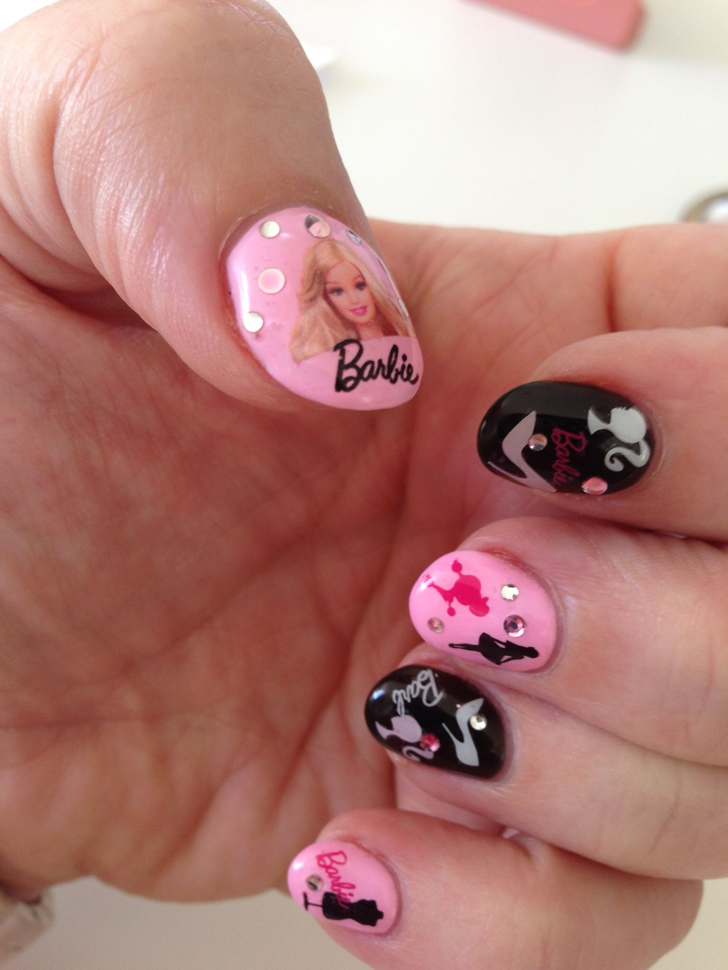 Barbie Nails Nail Designs On My Nails Pinterest