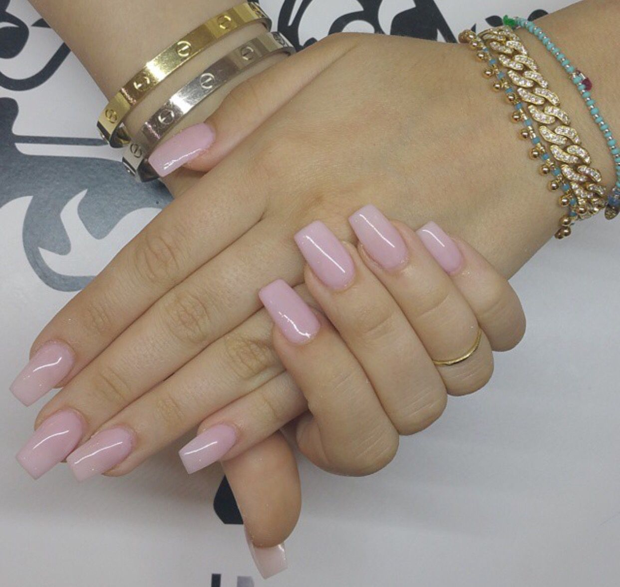 Light Pink Natural Color Nails Natural Acrylic Nails Short Coffin Nails Designs
