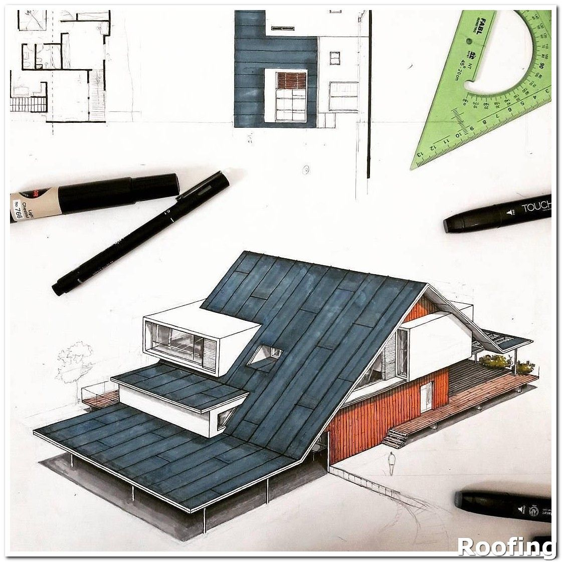 Helpful Roofing Tips For Maintaining The Integrity Of Your Roof In 2020 Roof Design Architecture Concept Drawings Architecture Drawing