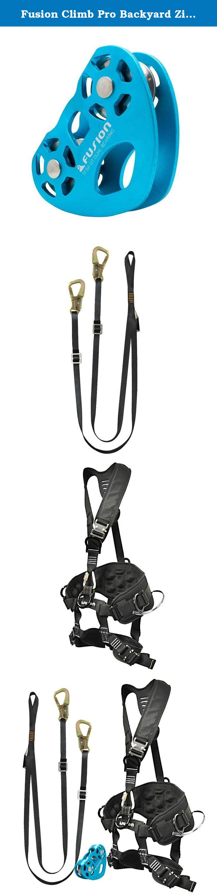 fusion climb pro backyard zip line kit fk a hlt 11 harness lanyard