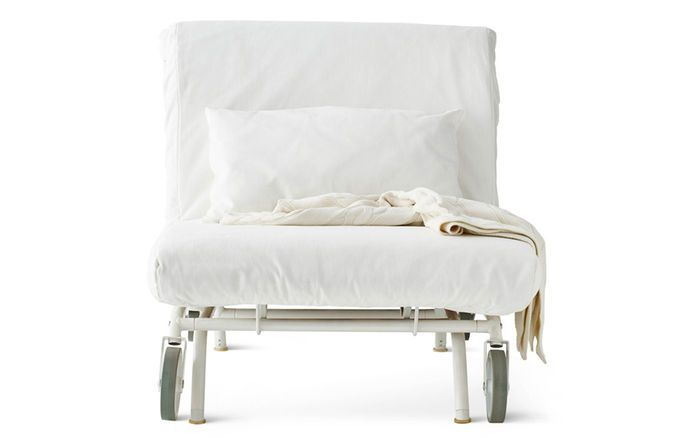 A White Chair Bed On Wheels Armchair Bed Ikea Bed Chair Bed