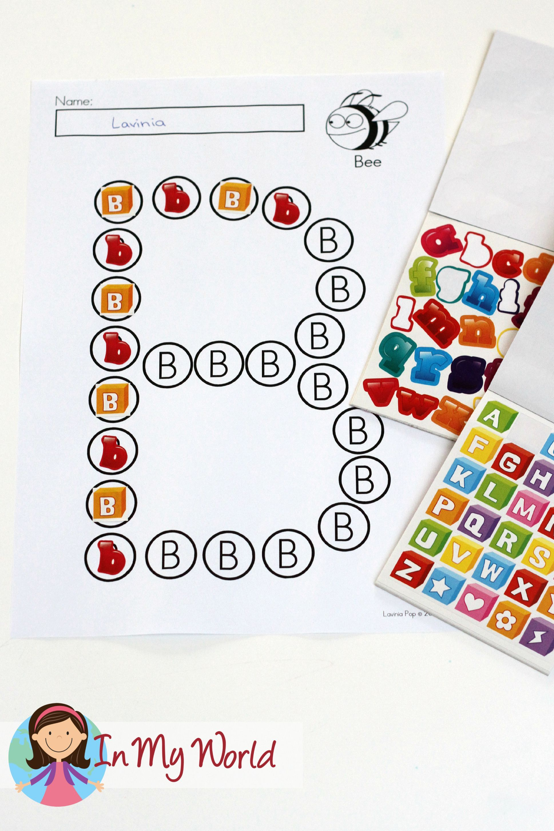 Alphabet Dots Worksheets Upper Case Letters