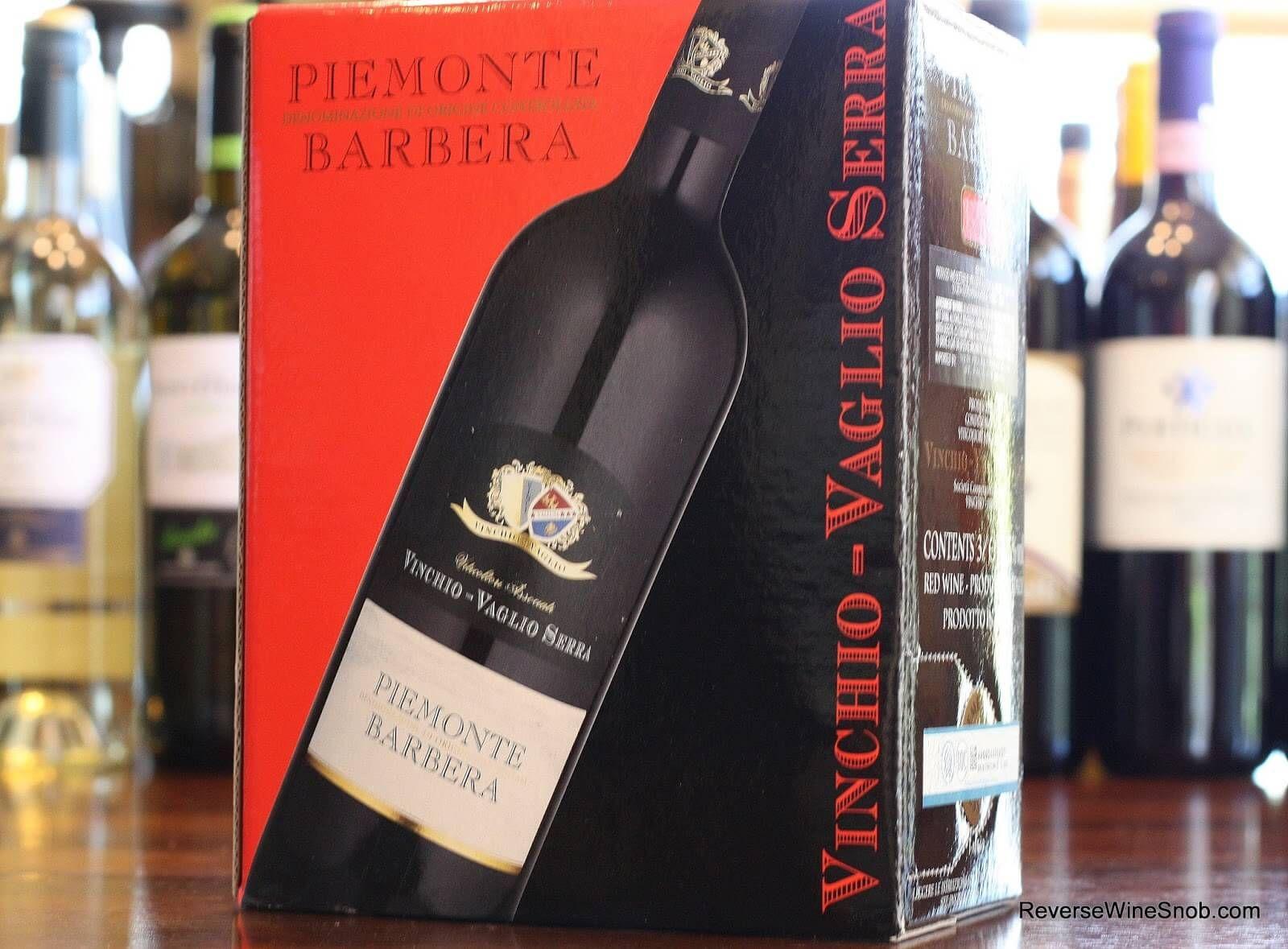 The Best Box Wines Vinchio Vaglio Serra Piemonte Barbera 2012 Wine Snob Wine Wine Box