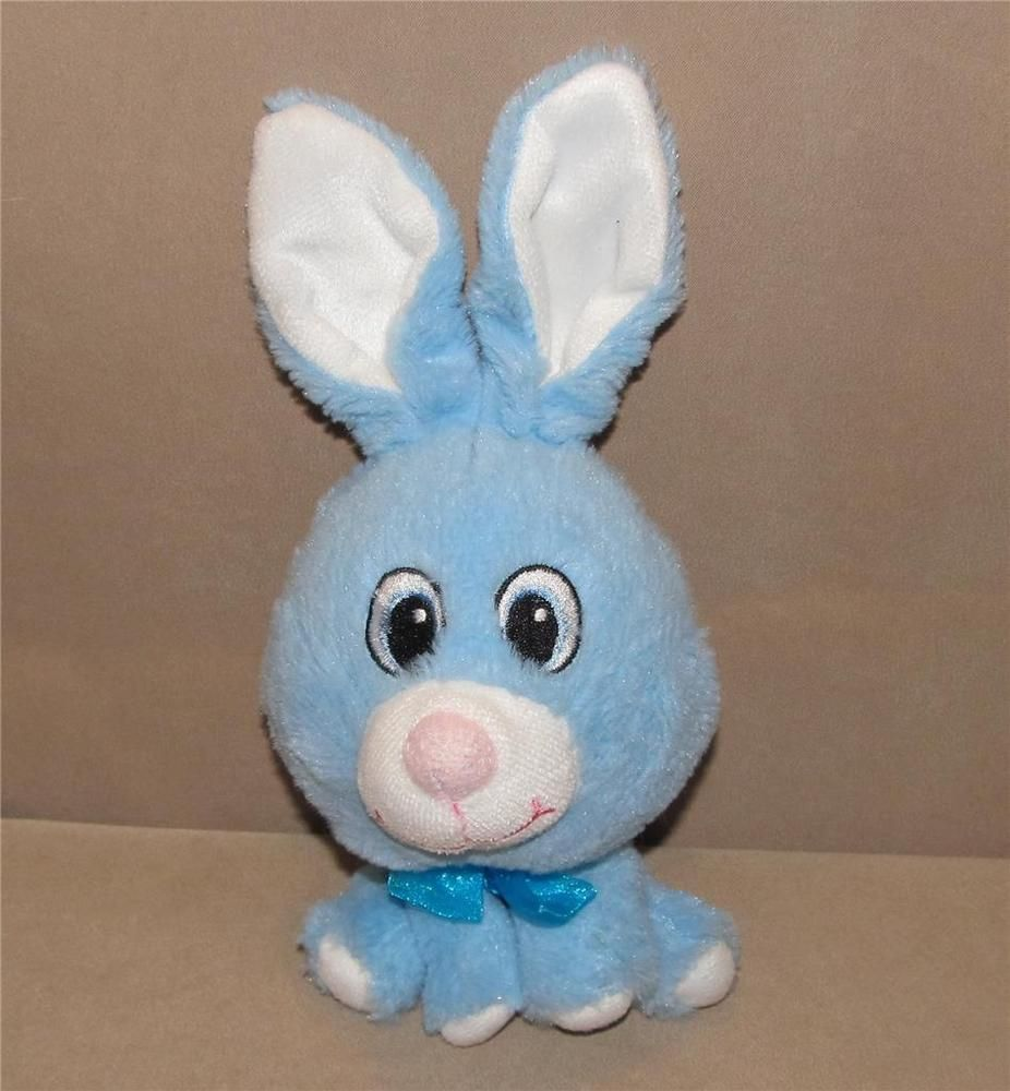 This Bright Blue Rabbit Is Soft Yet Tough For Lots Of Fun And Play