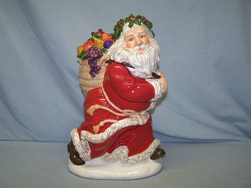 Dept 56 Santa Claus Cookie Jar Peggy Toole 2001 Fruit