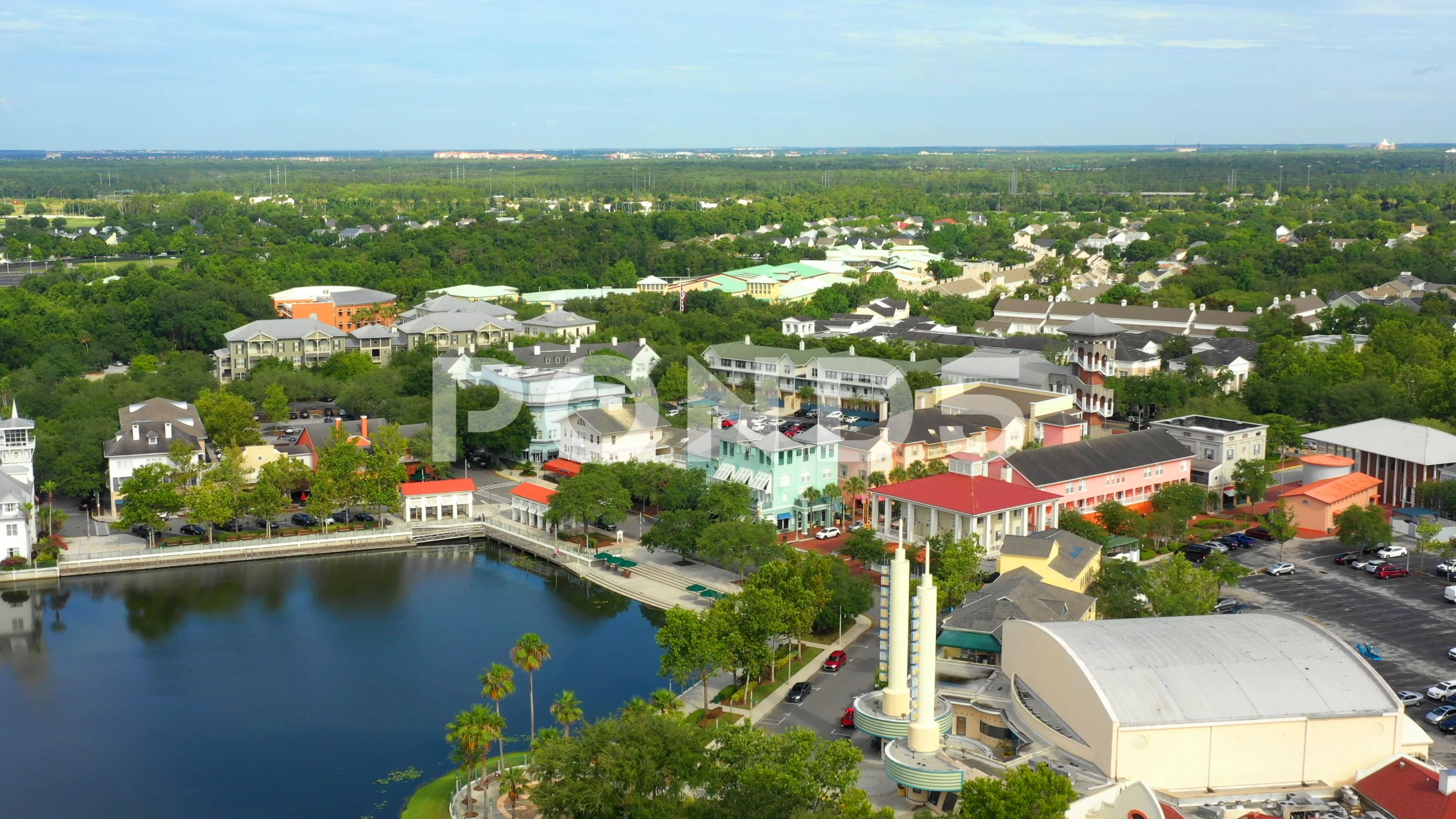Drone tour Celebration FL USA Stock Footage AD ,